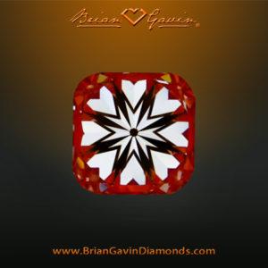 Hearts and arrow Cushion cut
